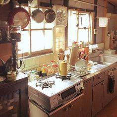 女性で、Otherの、Kitchen/無印良品/雑貨/エスニック/レトロ/一人暮らし/アジアン雑貨/古民家/日本家屋についてのインテリア実例。 「朝の光の台所...」 (2016-08-06 01:15:08に共有されました)