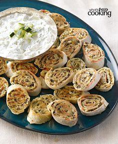 Cheesy Greek Pinwheel Appetizers #recipe                                                                                                                                                                                 More