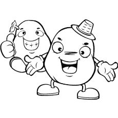 Happy Potatoes to Color