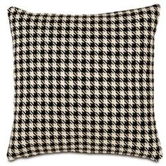 hounds-tooth pillow