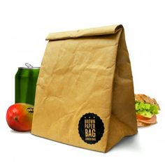#design3000 Lunch Bag Brown Paper Bag – Brotbeutel im Papier-Design.