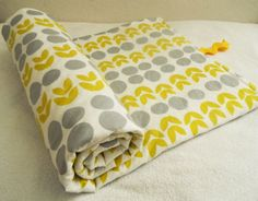 Yellow Leaves Quilted baby and Toddler Play by LilTotWonder, $34.00