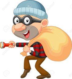 23001354-Thief-cartoon-with-sack-of-money-Stock-Vector-burglar.jpg (1183×1300)