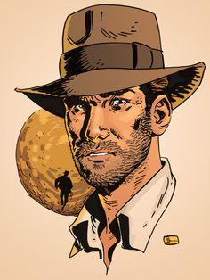"Indiana Jones by Evan ""Doc"" Shaner"