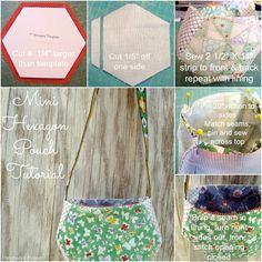 Hexagon Pouch Tutorial by Patchwork Posse - so cute and simple! My little girl would love it.