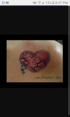 We are all broken Heart Tattoo Images, Heart Tattoos Meaning, Heart Tattoo Designs, Tattoo Designs For Women, Broken Heart Symbol, Shattered Heart, Heart Broken, Sweet Tattoos, Love Tattoos