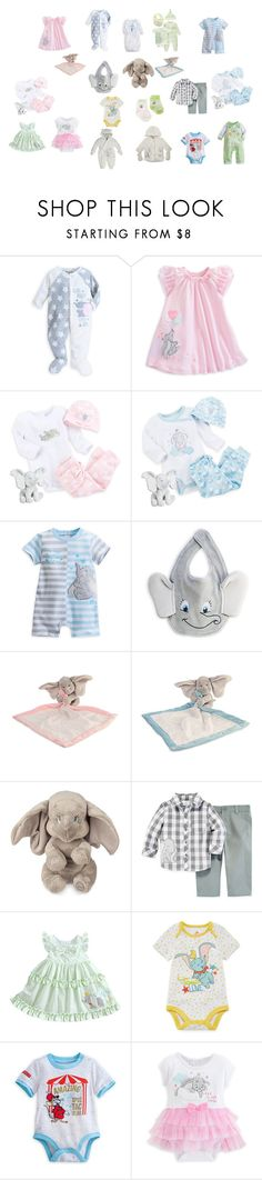 """""""Dumbo Baby Clothes"""" by nangel-94126 ❤ liked on Polyvore featuring Disney"""