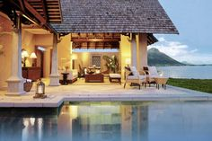 Luxury Holidays At Maradivas Villas Resort & Spa, Mauritius  Overlooking a picturesque expanse of soft white sand, lapped by the cool clear waters of the Indian Ocean, Maradiva Villas Resort & Spa is an oasis of understated grandeur crowned by the overarching Mauritian skies. It is the only 5 star all-villa resort located on the island's west coast, a region famed for its idyllic climate and breath-taking sunset views.