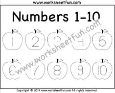 Number Tracing – – Apple – One Worksheet / FREE Printable Worksheets – Worksheetfun Printable Preschool Worksheets, Free Kindergarten Worksheets, Tracing Worksheets, Preschool Learning Activities, Free Preschool, Tracing Shapes, Number Tracing, Letter Tracing, English Grammar For Kids