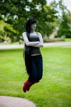 Marceline the Vampire Queen Costume for Cosplay & Halloween 2020 Epic Cosplay, Amazing Cosplay, Cosplay Girls, Cosplay Ideas, Anime Cosplay, Adventure Time Cosplay, Adventure Time Marceline, Cool Costumes, Cosplay Costumes