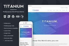 Titanium - Premium WordPress theme by Picseel on @creativemarket