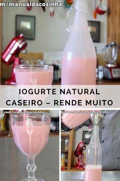Receita de Iogurte caseiro que rende muito! Faça agora mesmo, vale a pena! #receita #receitas #culinária #iogurte #caseiro #comida #chef #aguanaboca