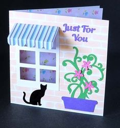 For You Window Card with Brick Paper on Craftsuprint - View Now!