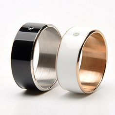 Timer Smart Ring for NFC Android WP System Mobile Phones Multifunction Dual-core Chip Wearable Magic NFC Trademark Ring -Dimension 60 mm(Girth)-9 # (Black) - http://onlinebusiness-rc.com/applewatch/timer-smart-ring-for-nfc-android-wp-system-mobile-phones-multifunction-dual-core-chip-wearable-magic-nfc-signature-ring-size-60-mmgirth-9-black/