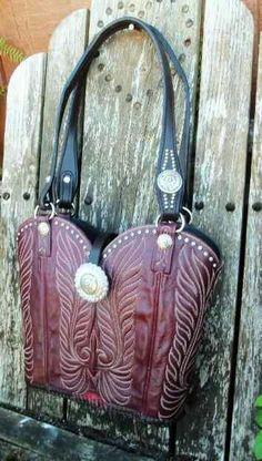 Cowboy boots purse
