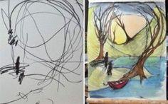 Mamma trsforma gli scarabocchi della figlia in opere artistiche Un artista di Toronto, ha iniziato a trasformare gli scarabocchi della figlia Eve in vere e proprie opere d'arte.Gli scarabocchi dei figli rendono orgogliose molte mamme, che li descrivono come auten #opere