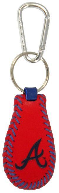 Atlanta Braves Team Color Baseball Keychain