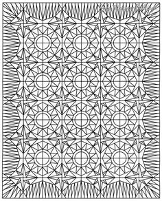 Mariner's Star Line Drawing, Quiltworx.com, Made by Quiltworx.com.