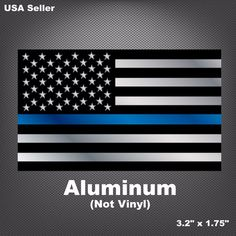 This Thin Blue Line sticker emblem is made of high-grade aluminum with adhesive backing. PEEL: Remove paper backing off decal as well as the. American Flag Decal, Line Sticker, Thin Blue Lines, Mustang, Decals, Gadgets, Stickers, Life, Ebay