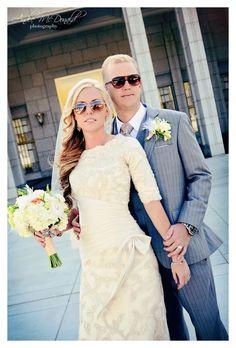 Sparkling Champagne - Modest Wedding Dress