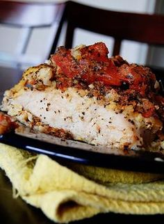 Bruschetta Chicken -Not too many ingredients... looks absolutely Divine!!  This link definitely takes you to the recipe!