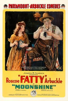 Movie Posters:Comedy, Moonshine (Paramount, One Sheet X . Movies 2019, Hd Movies, Films, Roscoe Arbuckle, Retro Advertising, Movies To Watch Free, Popular Movies, Silent Film, Vintage Movies