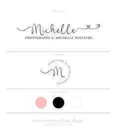Heart Logo Blush Pink Logo Calligraphy Logo Photography Logo Photography Watermark Wedding Planner L Watermark Ideas, Watermark Design, Cake Logo Design, Custom Logo Design, Diy Design, Graphic Design, Michelle Williams, Calligraphy Logo, Calligraphy Heart
