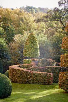 Arne Maynard Allt-y-bela Autumn Garden, Easy Garden, Garden Art, Rocks Garden, Garden Hedges, Topiary Garden, Garden Landscape Design, Landscape Architecture, Abstract Landscape