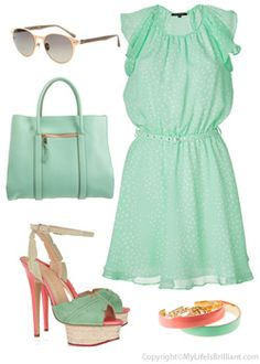 Loving the mint green!