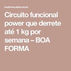 Circuito funcional power que derrete até 1 kg por semana – BOA FORMA