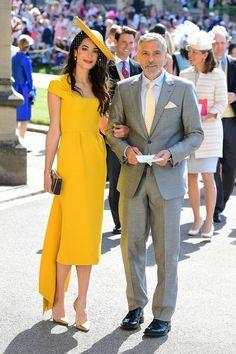 Amal Clooney & George Clooney @ Royal Wedding