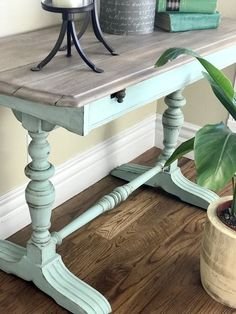 vintage furniture A perfect color for this vintage trestle table in Sea Glass by Dixie Belle Paint. Design Furniture, Paint Furniture, Furniture Projects, Furniture Makeover, Home Furniture, Modern Furniture, Farmhouse Furniture, Redoing Furniture, Automotive Furniture