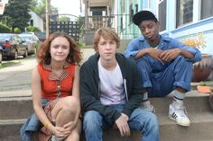 """Three young friends (from left), Rachel (Olivia Cooke), Greg (Thomas Mann) and Earl (RJ Cyler), face circumstances that force them to grow up faster than expected in the engaging new comedy-drama, """"Me and Earl and the Dying Girl."""" Photo courtesy of Fox Searchlight Pictures."""