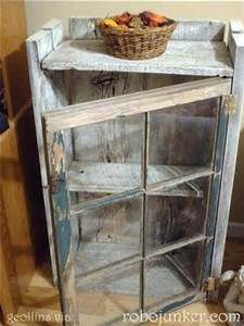 Reuse old windows with old barn wood to build a small closet. - Reuse old windows with old barn wood to build a small closet. Barn Wood Projects, Pallet Projects, Diy Craft Projects, Furniture Projects, Home Projects, Diy Furniture, Project Ideas, Furniture Design, Barn Wood Crafts