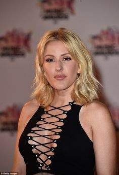 Showing off: Ellie was there to perform and as a nominee of the Révélation Internationale de l'Année Award