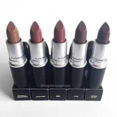 mac, lipstick, and make up image Lipstick Colors, Lip Colors, Dark Lipstick, Mac Cosmetics, Benefit Cosmetics, Mac Makeup Looks, Beauty Make-up, Beauty Tips, Natural Beauty