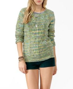 Marled Cable Knit Sweater from Forever 21