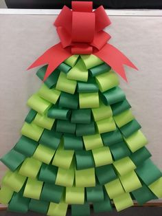 Christmas tree. Kindergarten. Bulletin board.