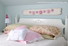 An easy and affordable way to customize your bedding is to make your own pillow cases. See how to sew these vintage style pillow cases.