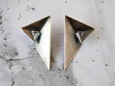 Geometric Earrings in Sterling Silver Contemporary by Vangloria