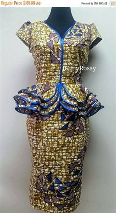 ON SALE African print Skirt and Top Ankara pencil by JENNYROSSY