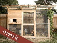 The Garden Coop Walk-in Chicken Coop Plan Ebook (pdf), Instant Download, Metric…