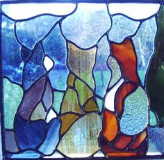 ~ Margaret B. Young stained glass cats. Link is not to a store to purchase...too bad.