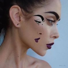 You are in the right place about crazy Makeup Art Here we offer you the most beautiful pictures about the … Beauty Makeup, Eye Makeup, Hair Makeup, Hair Beauty, Body Makeup, Maquillage Halloween, Halloween Makeup, Crazy Makeup, Makeup Looks