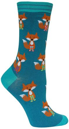 Some might say the name of these socks describes you as well. Show off your foxy style in these colorful animal socks that are almost as adorable as the real thing would be. These little guys look lik