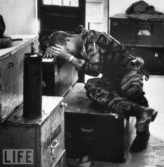 21-year old James Farley sobbing in Vietnam, 1965 - Larry Burrows