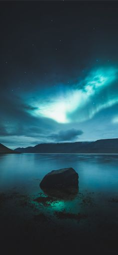 landscape photography of aurora borealis during ni... iPhone Wallpapers