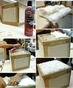 DIY Ottoman : DIY  Ottoman From Scratch DIY Furniture