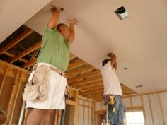 Hanging sheetrock, great advice and tool list!