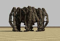 Theo Jansen's Strandbeests- kinetic sculptures.